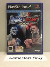 SMACK DOWN VS RAW 2006 - SONY PS2 - VIDEOGIOCO USATO PERFETTAMENTE FUNZIONANTE