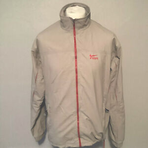 Nike Air Tracksuit Sports Top Mens Cream / Red Size Large
