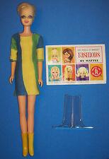 Vintage #1185 TWIGGY Doll BL TNT 1967 Mattel British Fashion Model Original Mini
