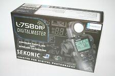 Sekonic L-758 DR DigitalMaster Light Meter Complete and Boxed