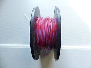 Silver Plated Copper PTFE Wire Cable 23AWG 0,6MM Red/Blue Stranded 8 meters