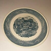 Currier & Ives Taylor Smith and Taylor Ironstone Dinner Plate Made In USA