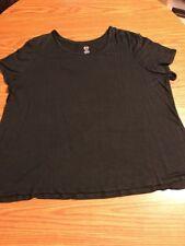 Cato Black Short Sleeve T Shirt Size 22/24W