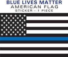 REFLECTIVE Thin Blue Line BLUE LIVES MATTER 1 pc decal sticker