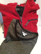 Set of 2 Mens Cold Weather Clothing Sonoma SZ M Fleece Jacket+Calvin Klein SZ L