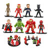 Marvel Avengers Infinity War Cake Toppers 8pcs/set Figures w/ Base Bday Gift Toy