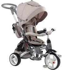 Kinderwagen Dreirad Kinderfahrad für Kinder 1-6 Jahre Schiebstange Beige TOP!