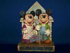 """Mickey & Minnie """"Homegrown""""  Disney Traditions Figurine Designed By Jim Shore"""