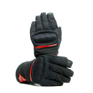 Dainese Avila D-Dry Waterproof Winter Motorbike Motorcycle Gloves Black Red SALE