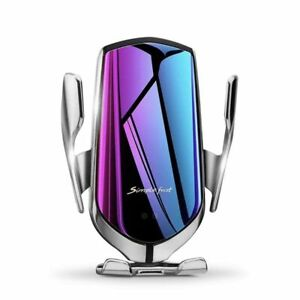 Mirror Gorgeous Plating Smart Sensor Auto Clamping Qi Charger Car Mount Holder