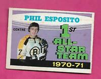 1971-72 OPC # 253 BRUINS PHIL ESPOSITO ALL STAR GOOD  (INV# D5924)