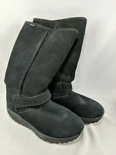 Skechers Shape Ups Boots Size 9.5 Black Suede 39.5 EU 24857 Toning Leather