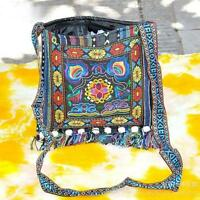 Bohemian Colorful Hmong Purse Hill Tribe Crossbody Bag Thai Handbags Boho A19