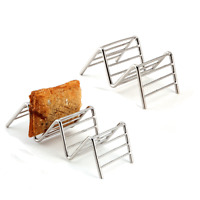 Stainless Steel Mexican Shell Rack Hard 1-4 Kitchen Food Wave Shape Taco Holder