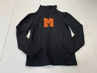 "Monogrammed ""M""Girls Size 5T Toddler Black Long Sleeve Turtle Neck Halloween"