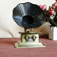 Retro Phonograph Craft Record Player Prop Antique Gramophone Model Garden
