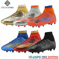 DREAM PAIRS Kids Soccer Shoes Boys Girls Outdoor Athletic Football Shoes Cleats