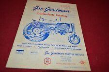 Joe Goodman Tractor Parts Catalog For 1972 Dealer's Brochure YABE13 ver2
