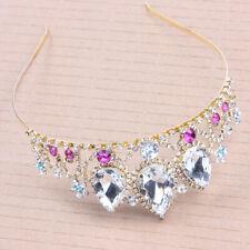 5cm High Flexible Big Drip Crystal Bridal Kids Party Pageant Prom Tiara Crown
