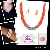 paparazzi jewelry necklace with earrings and bracelet