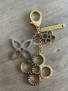 Louis Vuitton Authentic Metal bijoux sac tapage Key Chain Bag Charm Auth LV