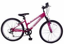 """Sienna 24"""" Wheel Girls MTB Bike Front Suspension 6 Speed Lightweight Pink Age 8+"""