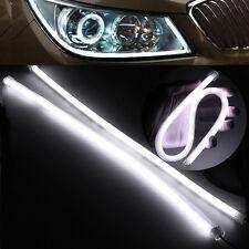 2x Flexible 45CM LED Tubo Strisce Lampada Auto Luce DRL Fari Fendinebbia Bianco