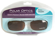 Solar SHIELD CLIP ON Sunglasses FULL FRAME 50 REC 15 W/ CASE FREE SHIPPING
