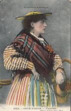 Postcard Traditional Dress Collection Artistique Cote D'Azur Fleuriste