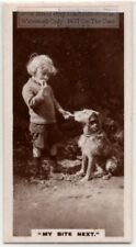 Young Boy Sharing His Food With His Dog Pet 1920s Trade Ad Card
