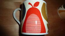 Orla Kiely Té Café Taza Rojo Amarillo Gris pizarra Pera Moderno Retro Chic Gourmet!!!