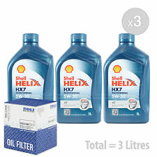Shell Helix Hx7 5w-30 Synthetic 5w30 Engine Oil 1 Litre 1l