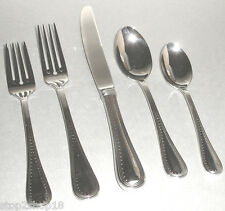 Vera Wang Wedgwood GROSGRAIN Stainless 5 Piece Place Setting Flatware New in Box