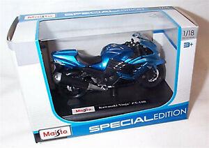 Kawasaki Ninja ZX-14R Blue & black Motorbike 1-18 scale New in box