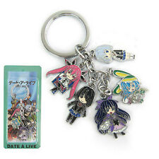 Anime DATE A LIVE 5 Characters 5 Pendants Metal Keychain keyring Pendant