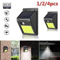 4x Lampada luce faretto faro esterno energia solare 48 LED sensore movimento PIR
