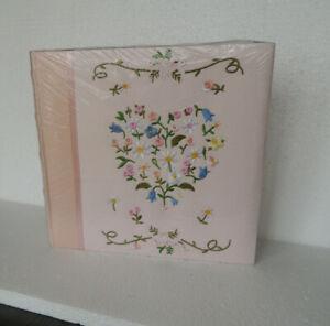 Large Photo Album Pink EMBROIDER  LARGE HEART SEALED NEW