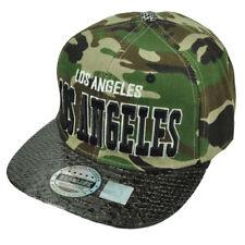 Los Angeles Angels Camouflage Camo Faux Snake Skin Snapback Hat Cap City LA