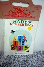 NEW Old Stock Puppet Storybook Izawa Hijikata  Baby Numbers Cloth book Japan
