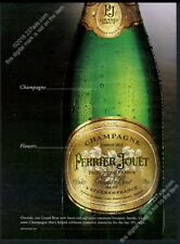 2001 Perrier Jouet Grand Brut champagne bottle photo BIG vintage print ad