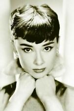 AUDREY HEPBURN ~ HANDS ON CHIN PORTRAIT ~ 24x36 CLASSIC PINUP Poster ~ Movie