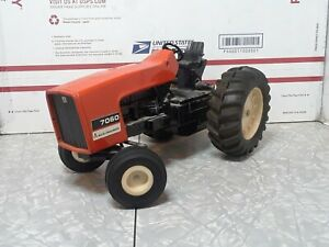 Vintage Ertl Allis-Chalmers 7060 1/16 Toy Tractor cab removed no Muffler