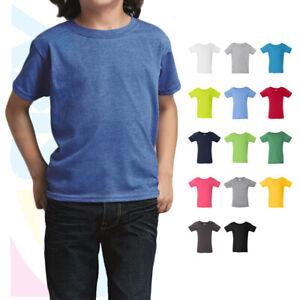 Gildan Softstyle Plain Basic Toddler Tee Short Sleeve Solid Kids T-Shirt 64500P
