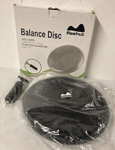 "REEHUT Balance Disc, Inflated Stability Wobble Cushion Trainer 13"" w/ Pump BLACK"