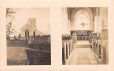 Norfolk  - SWAINSTHORPE, Church, Interior & Exterior Views -  Real Photo.