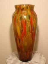 Italian Maestri Vetrai Monumental Polychrome Art Glass Vase with Gold Aventurine