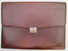 -AUTHENTIQUE  grande pochette LE TANNEUR  cuir   (T)BEG   bag A4 vintage 60's