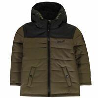 Gelert Kids Boys Quest Jacket Infant Down Coat Top Long Sleeve Hooded Zip Full