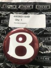 4 Nuevo Original Bentley Continental GT Espuela Mulsanne negro Insignia de HUB Tapas De Centro