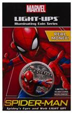 2017 MARVEL LIGHT UP SPIDER-MAN COIN
